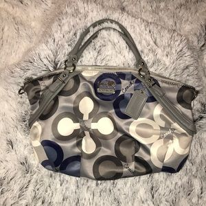 Coach Madison Clover Print Large Handbag